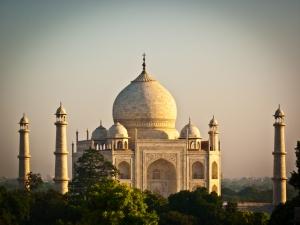 Vue sur le Taj Mahal