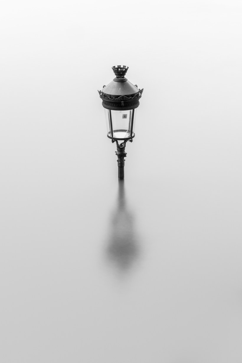 Paris Flood June 2016 Streetlight