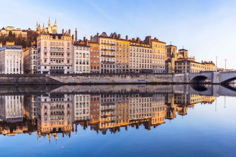 Lyon, France, Fourvière and Saint-Jean