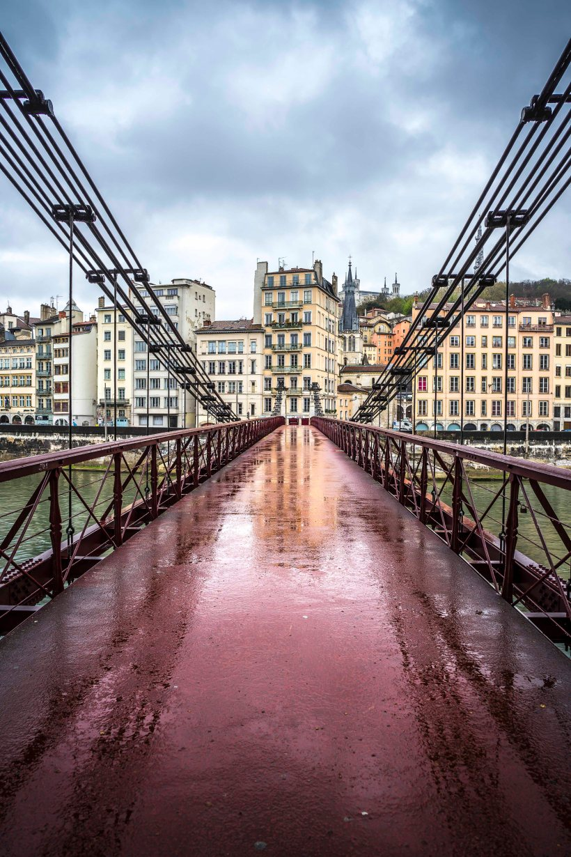 Lyon, France - Saint-Paul from Passerelle Saint-Vincent