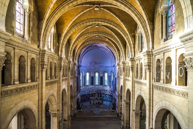 Lyon, France - Le choeur bleu du Bon Pasteur