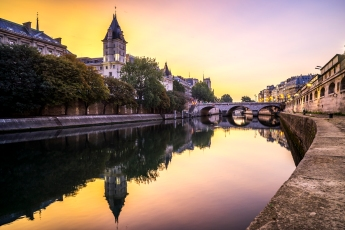 Paris, France - Golden Sunrise on Quai des Orfèvres