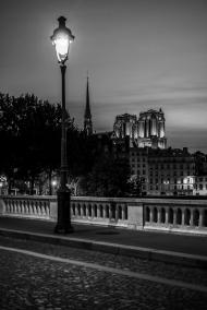 Paris, France - Sunset on Notre-Dame