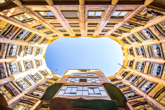 Barcelona - Casa Mila First Courtyard