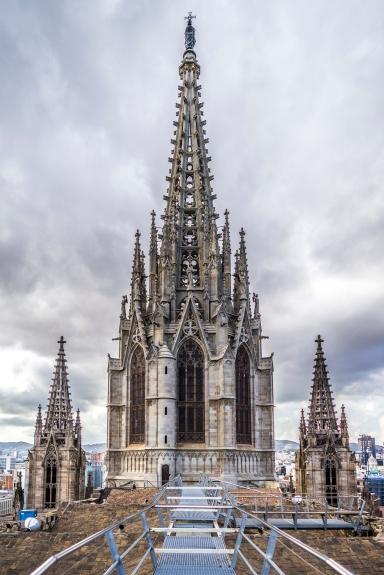 Barcelona : Spire of the Cathedral