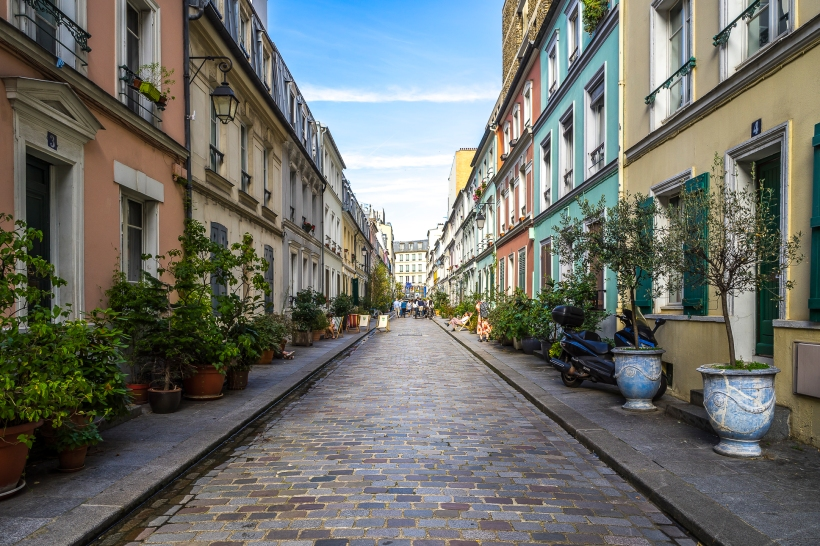 Paris, France - Rue Crémieux