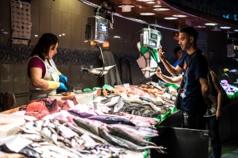 Barcelona : Boqueria Fish Merchant