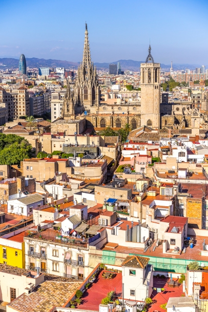 Barcelona : View on the Cathedral