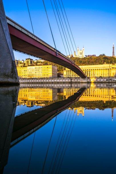 Lyon, France - Sunrise on Palais de Justice