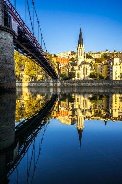 Lyon, France - Sunrise on Saint-Georges