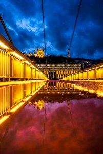 Lyon, France - Passerelle du Palais de Justice