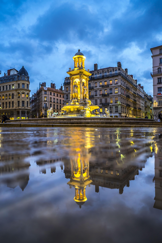 Lyon, France - Place des Jacobins