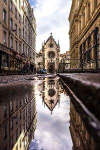 Lyon, France - Saint-Nizier's facade