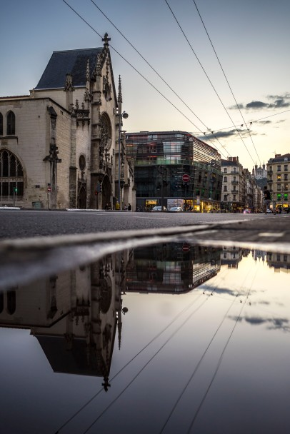 Lyon, France - Sunset on Saint-Bonaventure