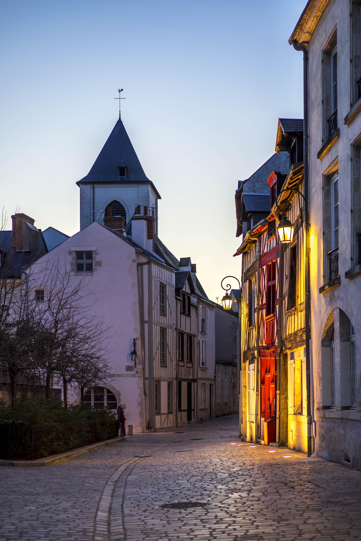 Orléans, France - nightfall