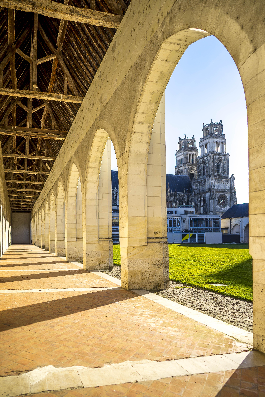 Orléans, France - Sainte-Croix from the cloister