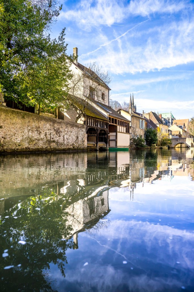 Chartres, France - Along the Eure