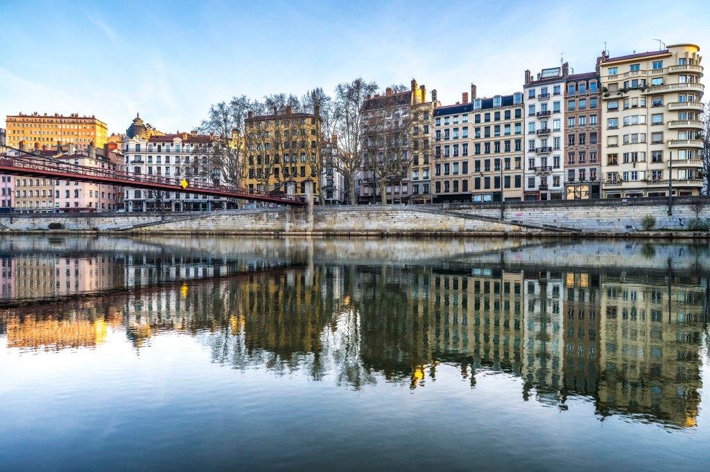 Lyon, France - Passerelle Saint-Vincent