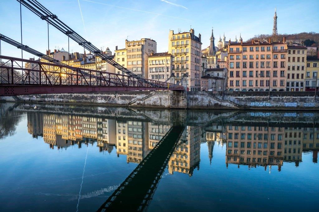 Lyon, France - Saint-Paul at sunrise