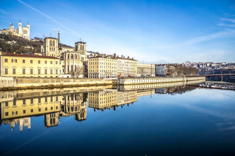 Lyon, France - Sunrise on Saint-Jean