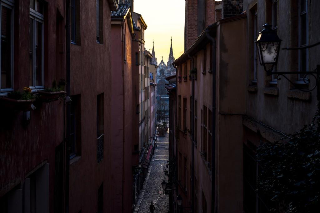 Lyon, France - Sunrise on Saint-Nizier