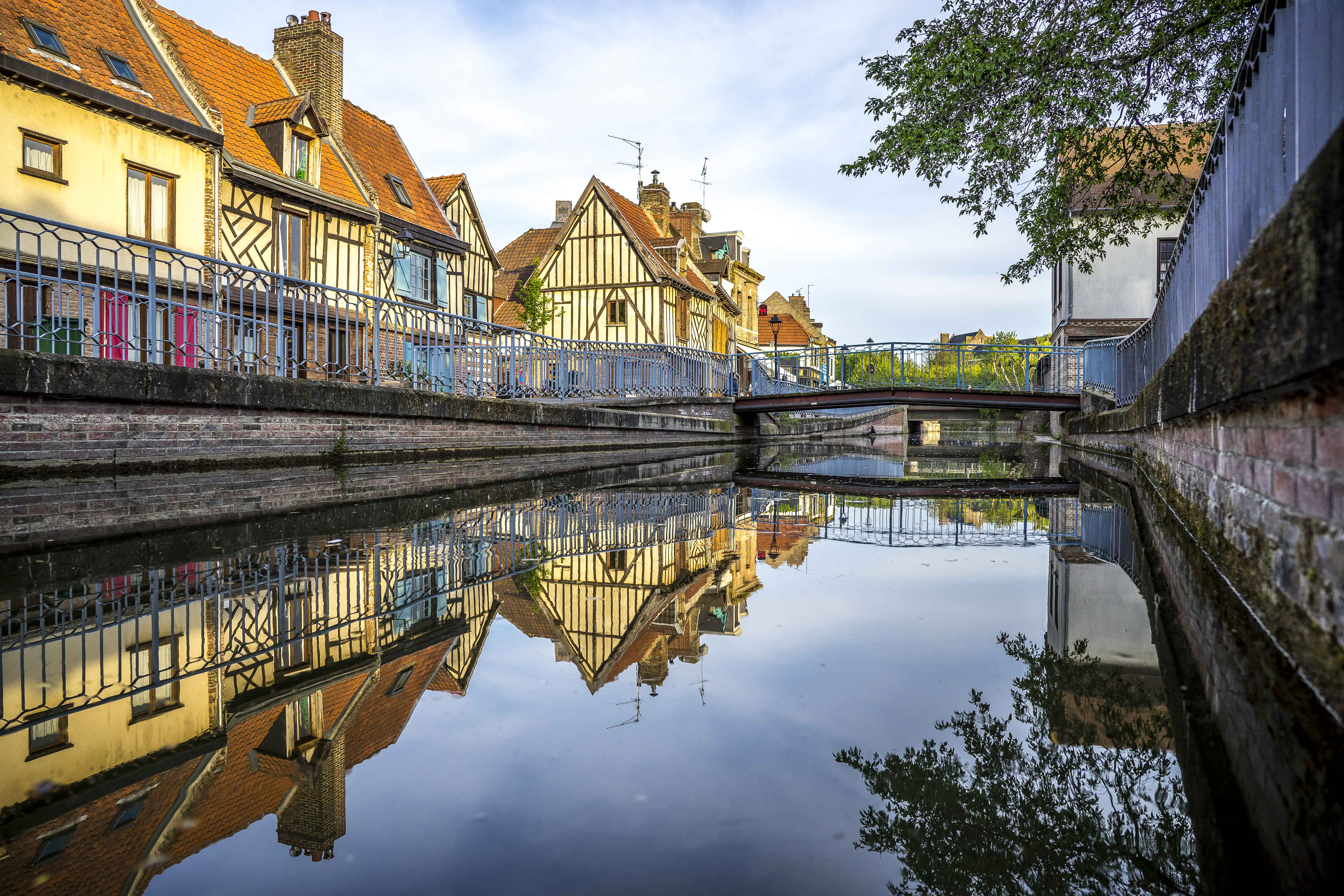 Amiens - Old half-timbered houses on the banks of the Somme