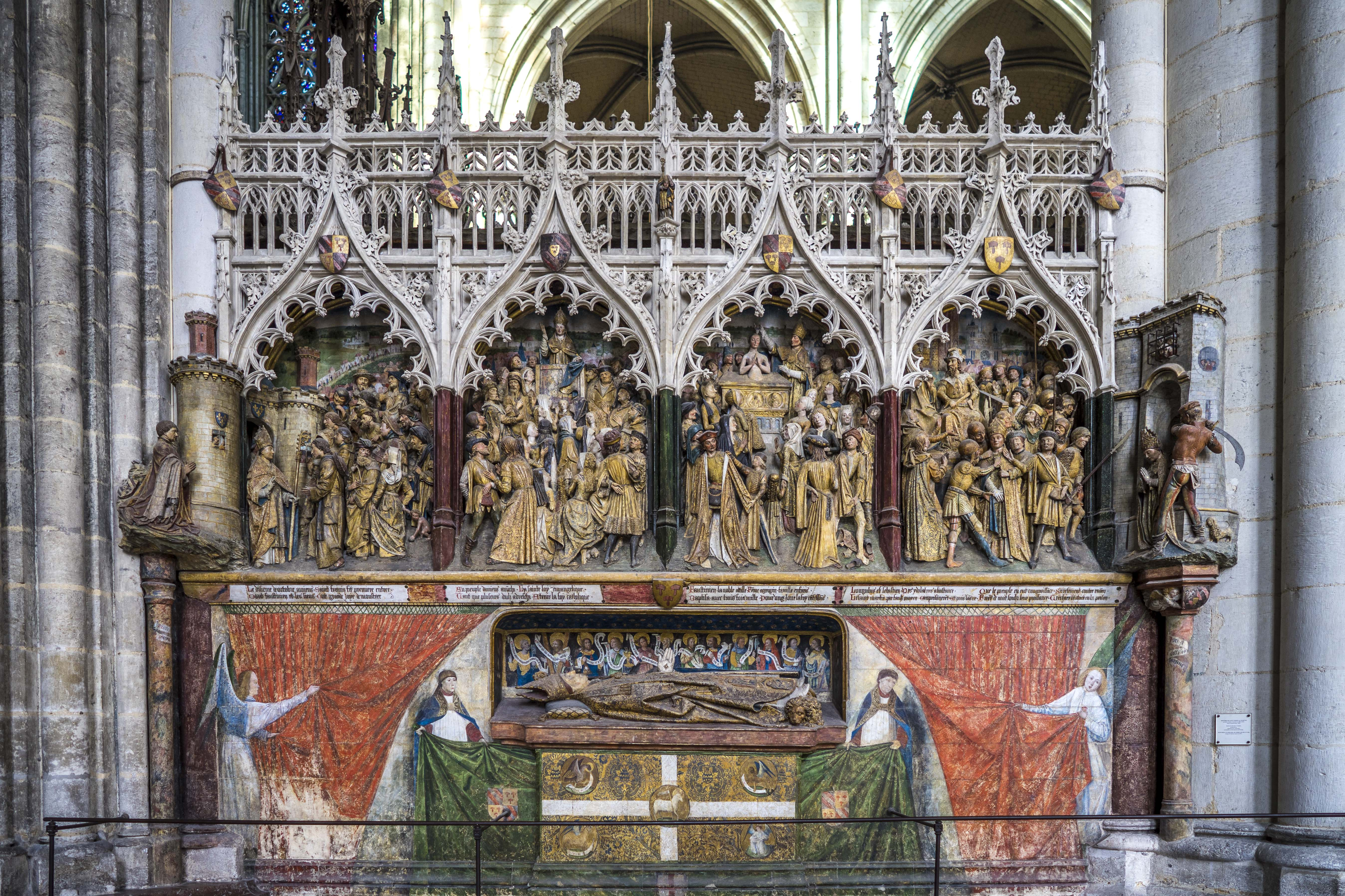 Amiens, France - Chancel Screen, first pane