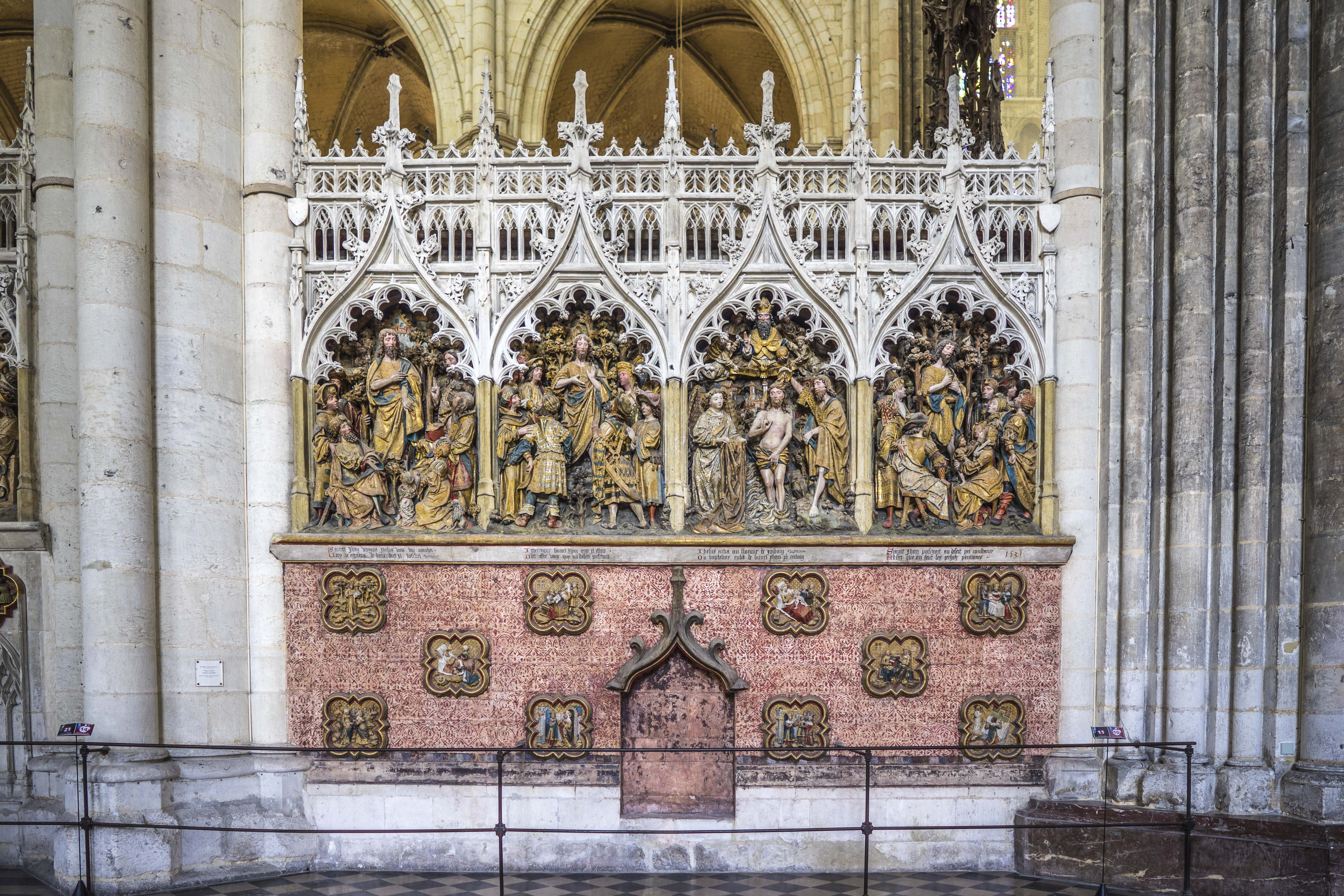 Amiens, France - Chancel Screen, second pane
