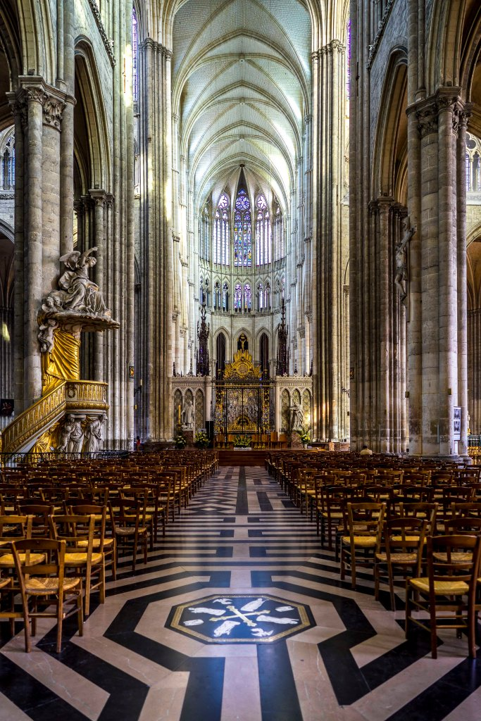 Amiens, France - The choir of Notre-Dame d'Amiens