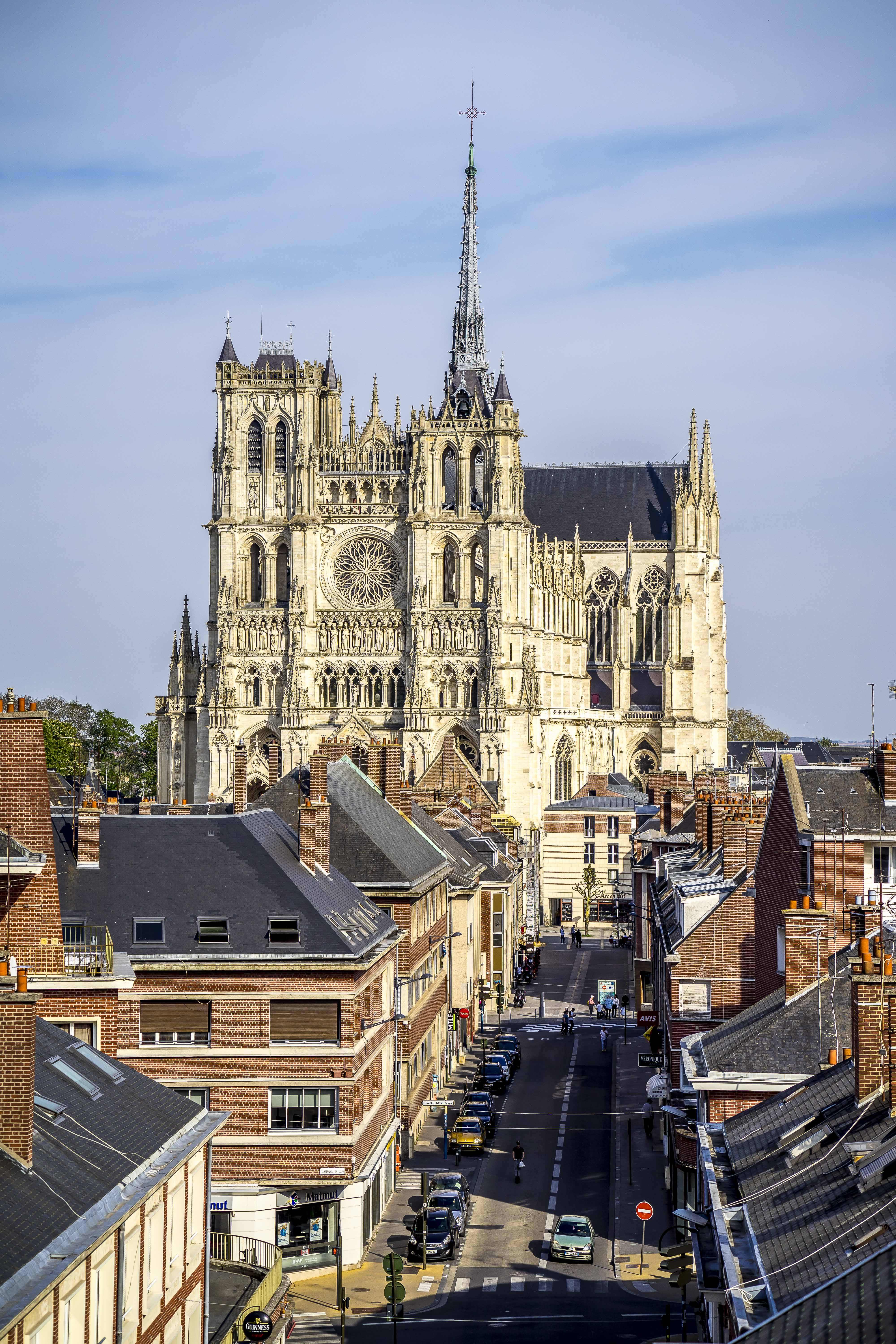 Amiens, France - View on Notre-Dame d'Amiens from the Belfry