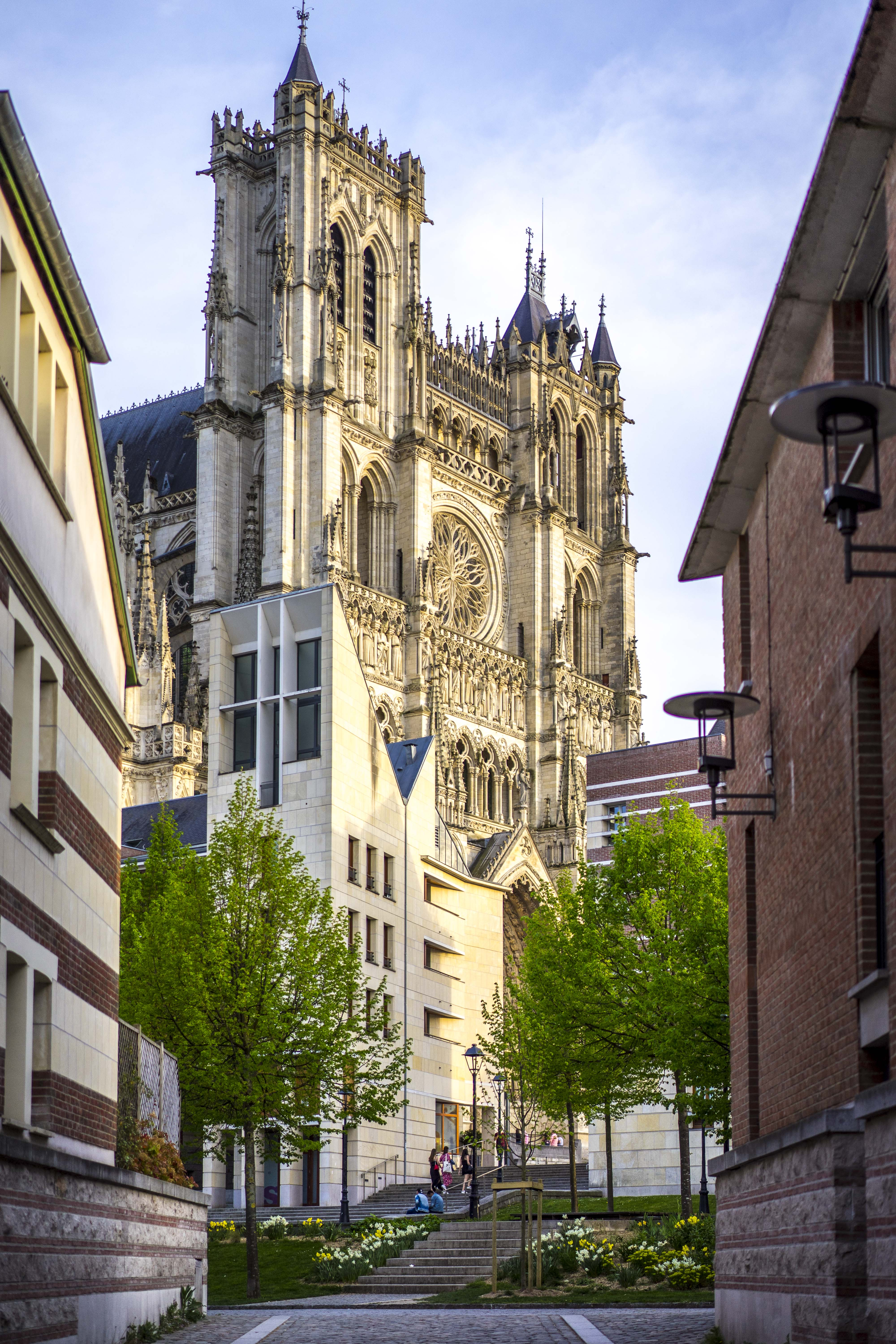 Amiens, France - Walking to the Cathedral