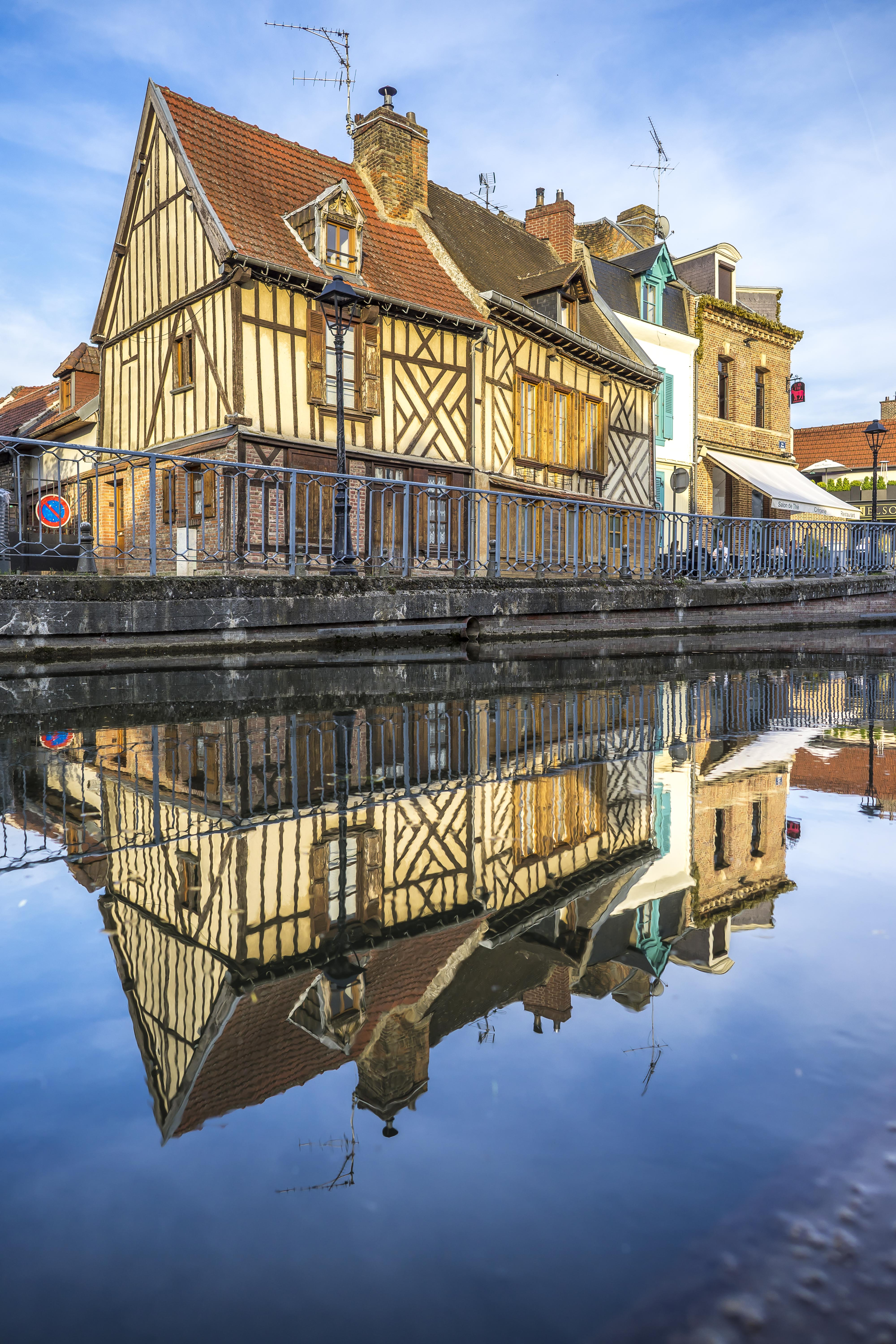 Amiens - Old houses reflecting in the Somme