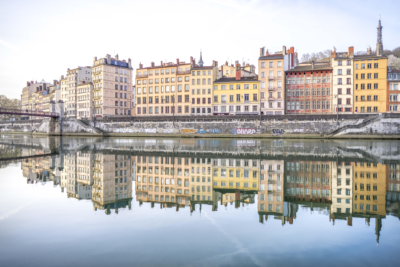 Lyon, France - Quai Pierre Scize