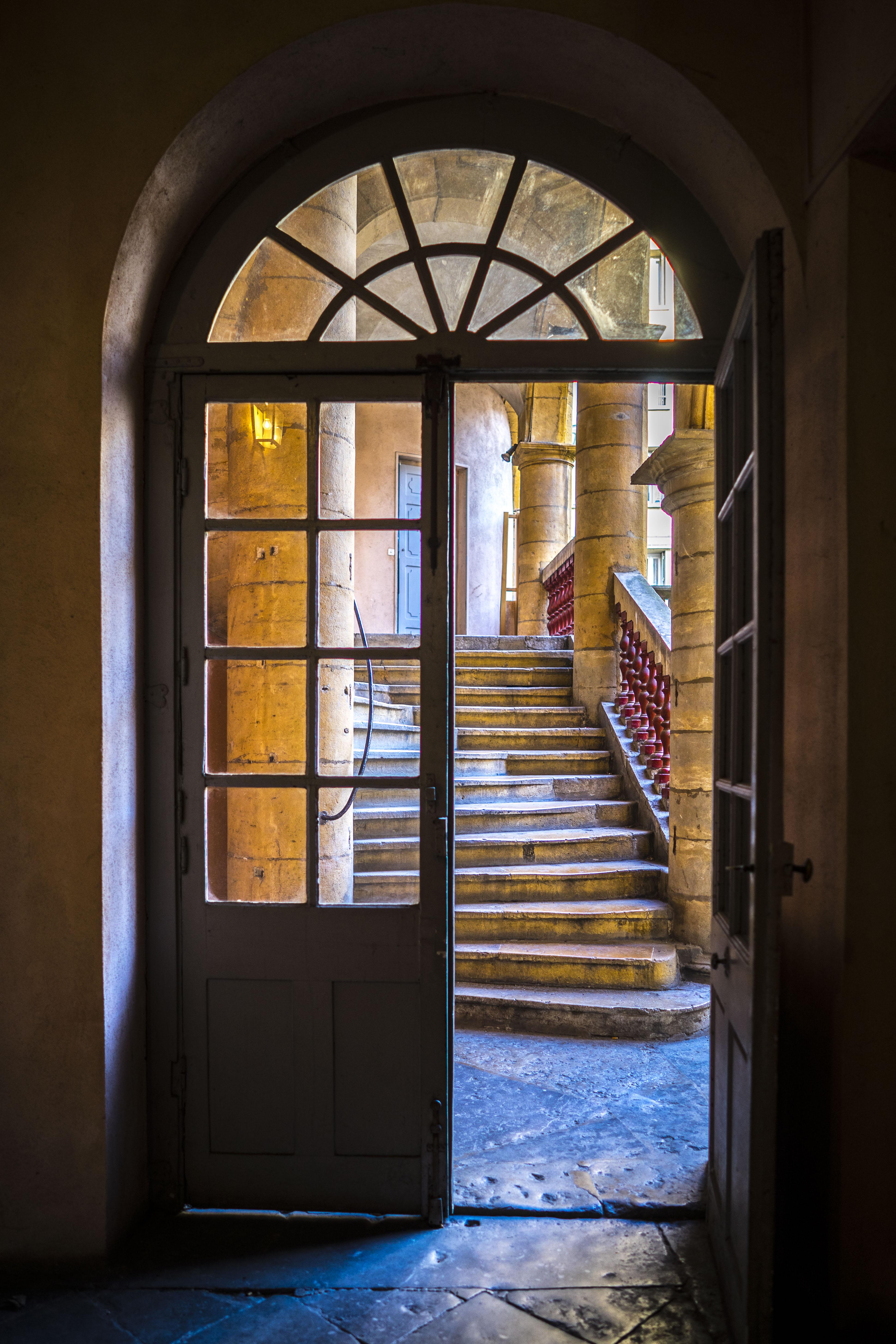 Lyon, France - Traboule Maison Henri IV, 2