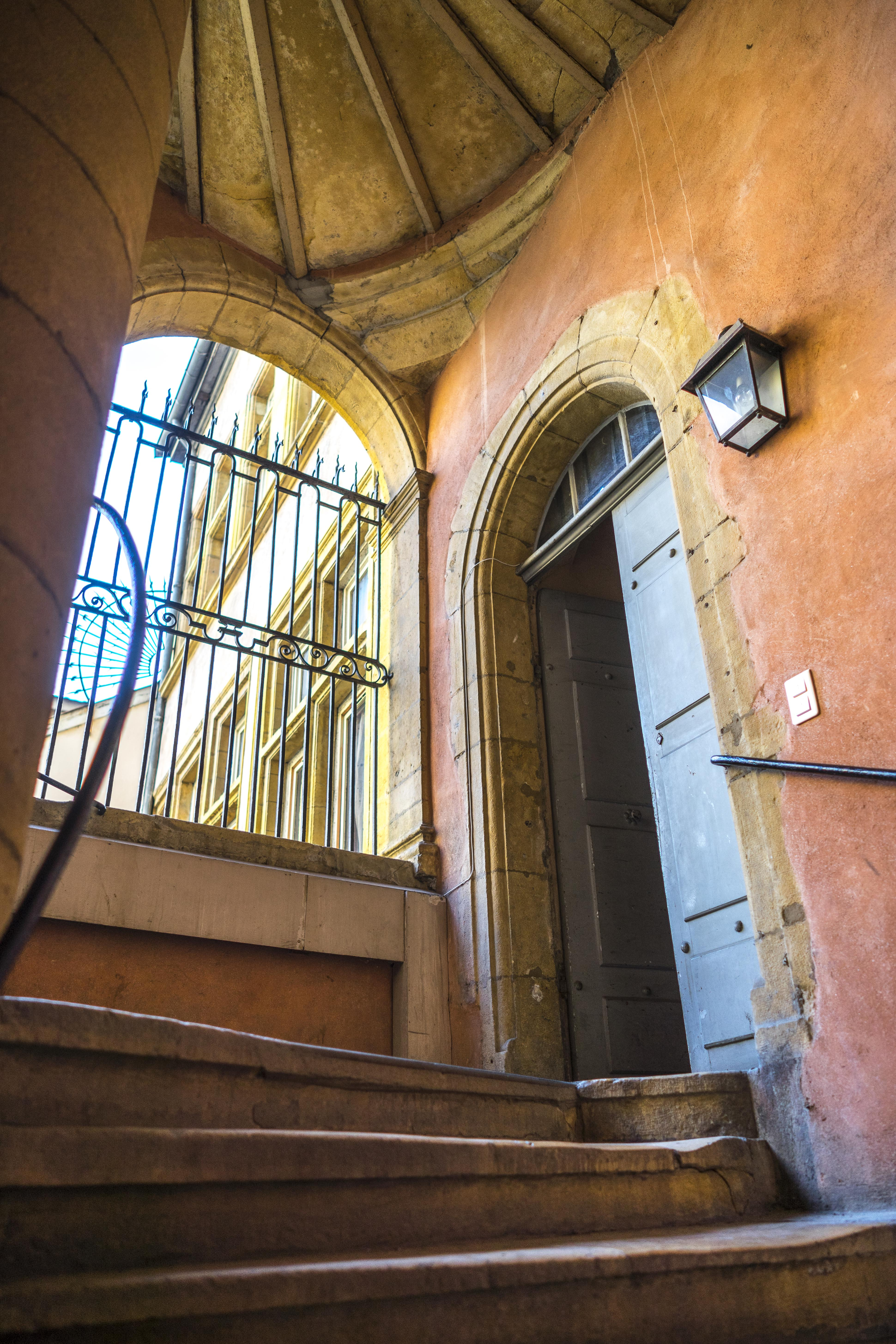Lyon, France - Traboule Maison Henri IV
