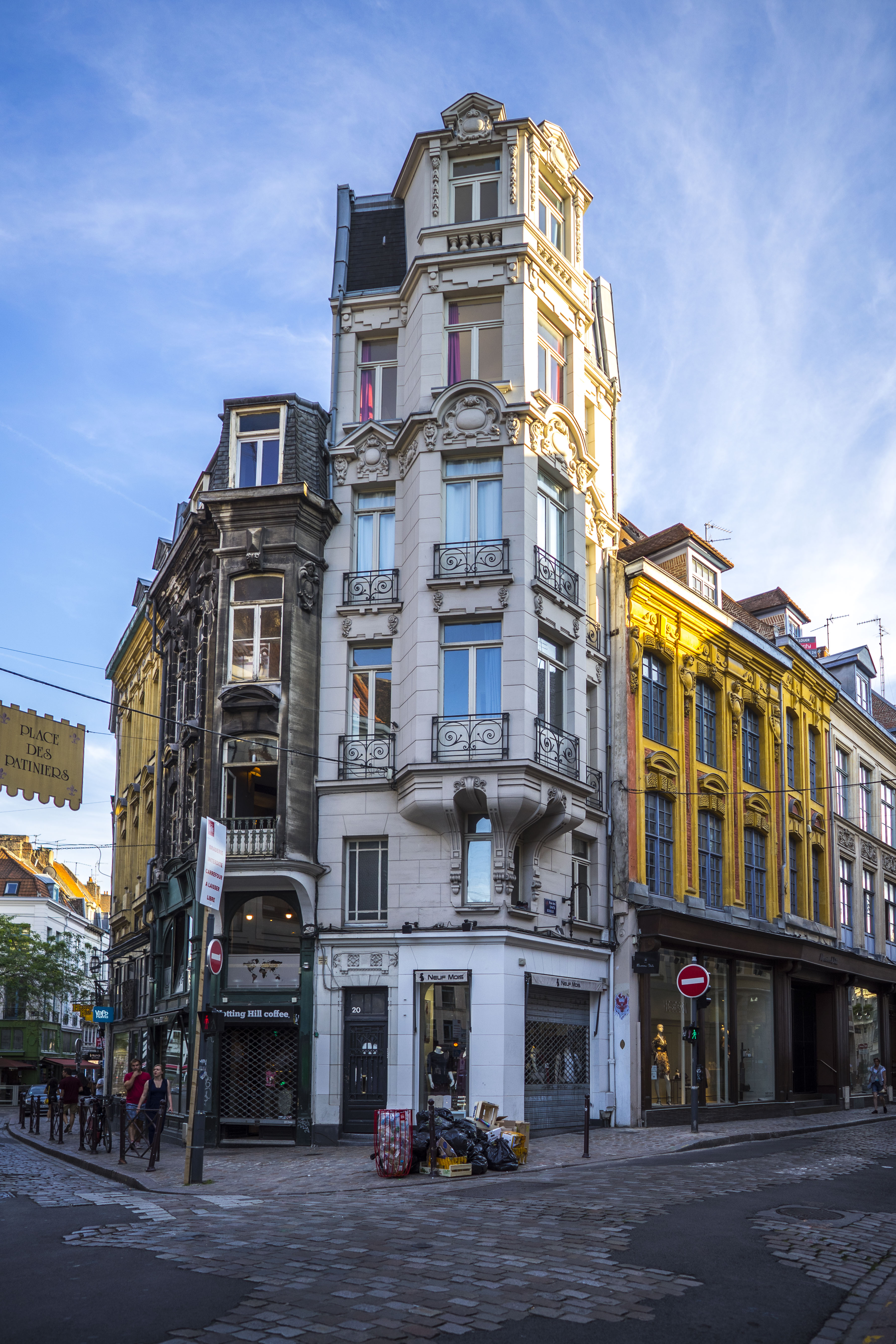 Lille, France - Angle building