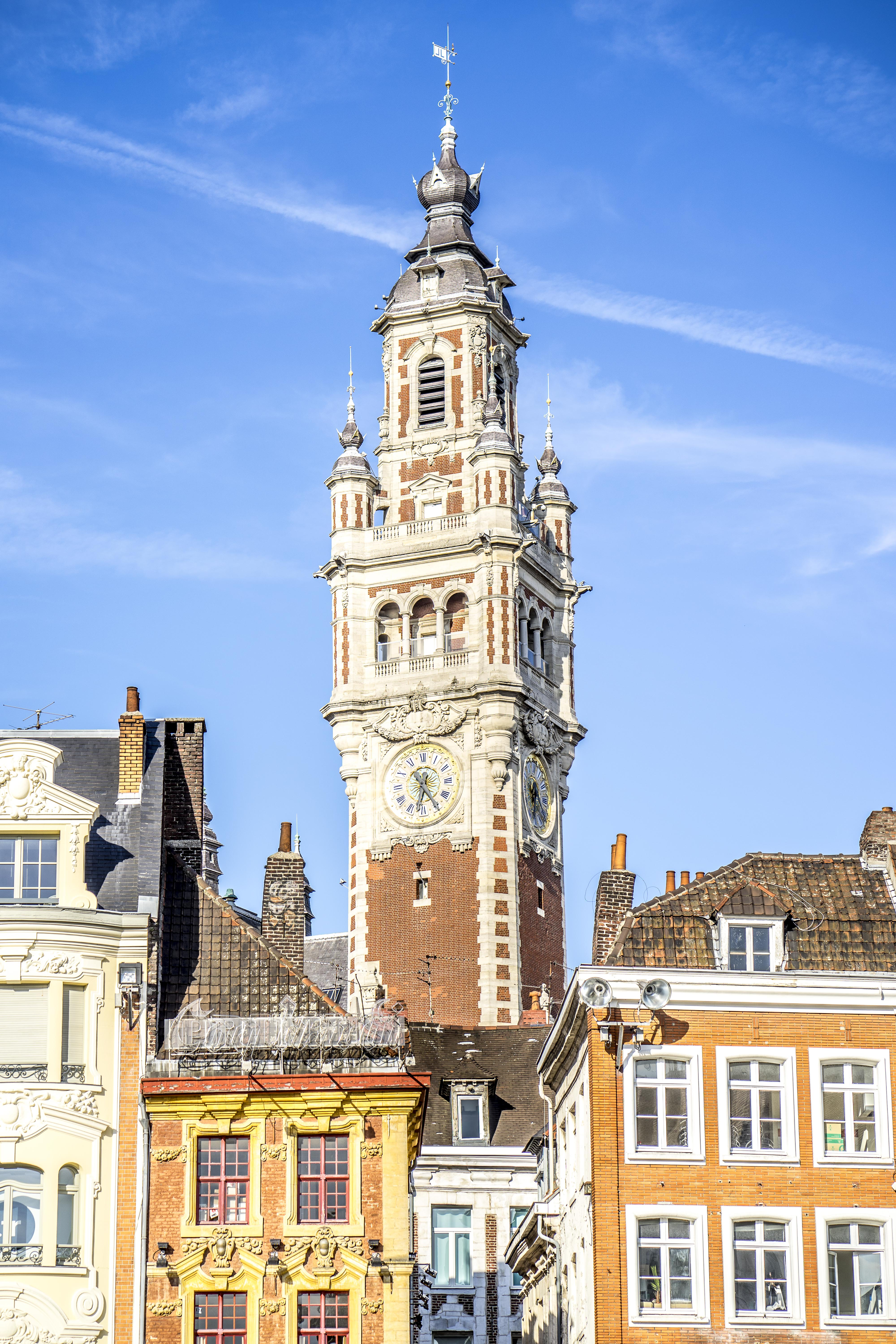 Lille, France - Colorful belfry