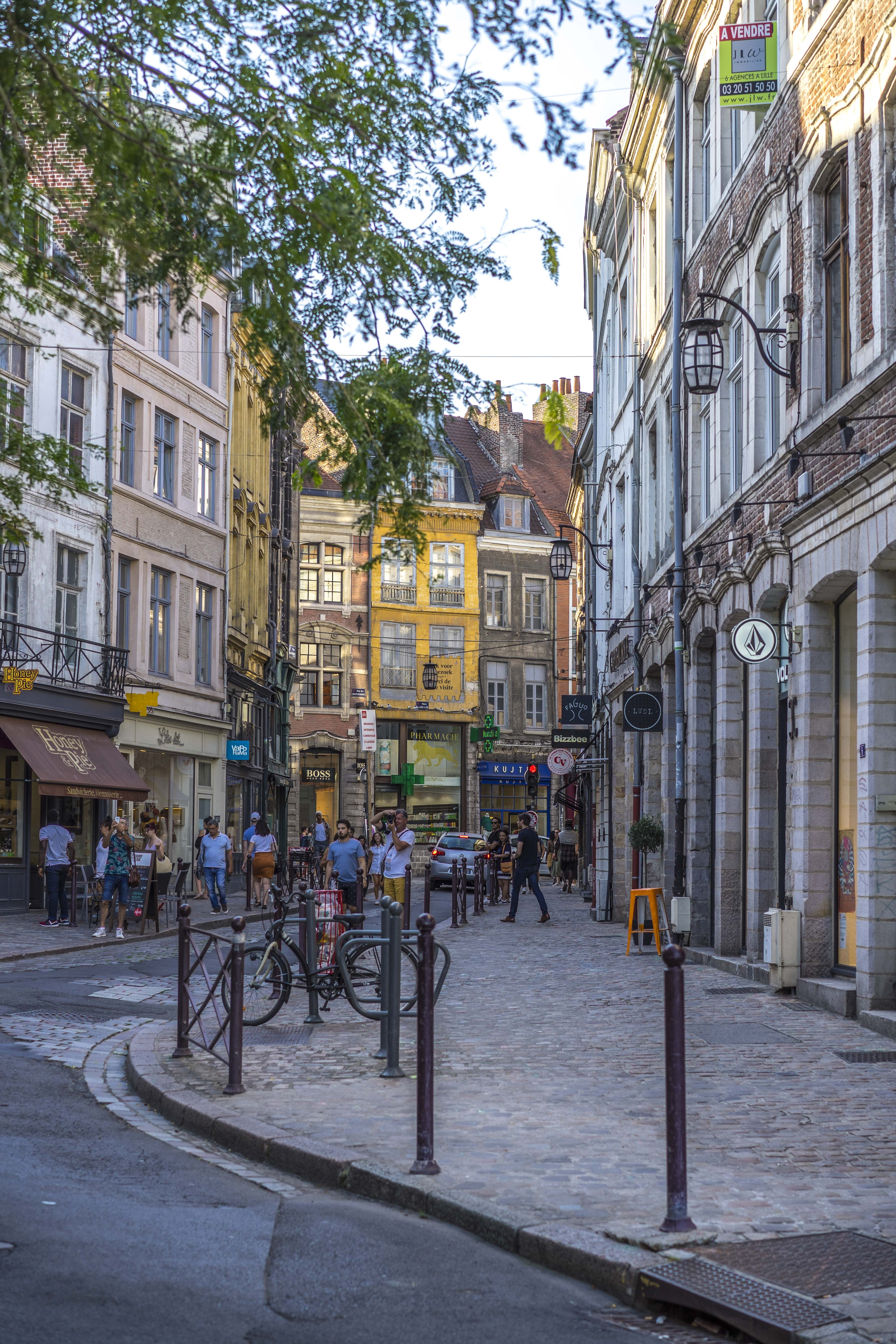 Lille, France - Colorful street