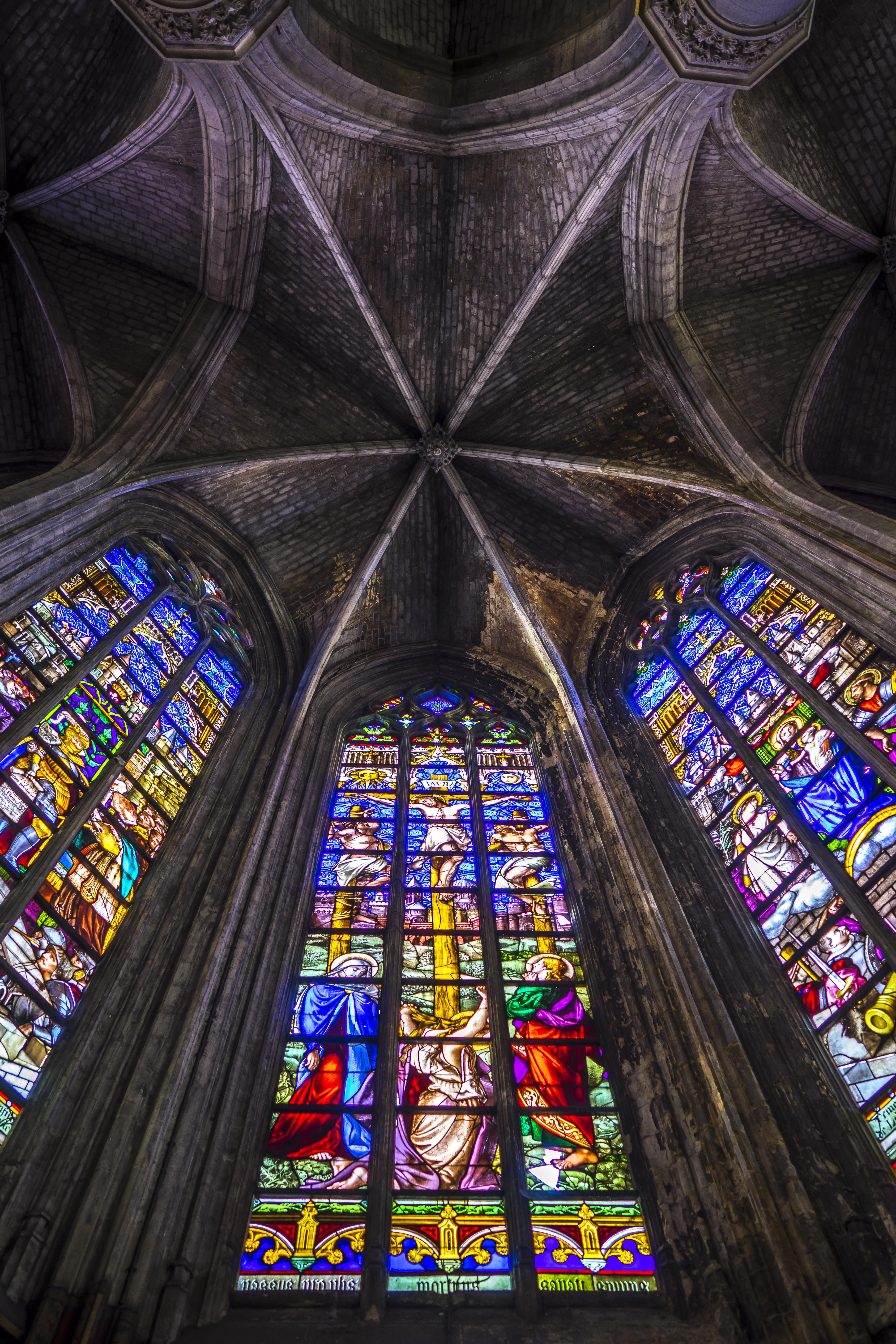 Lille, France - Saint-Maurice, stained Glass