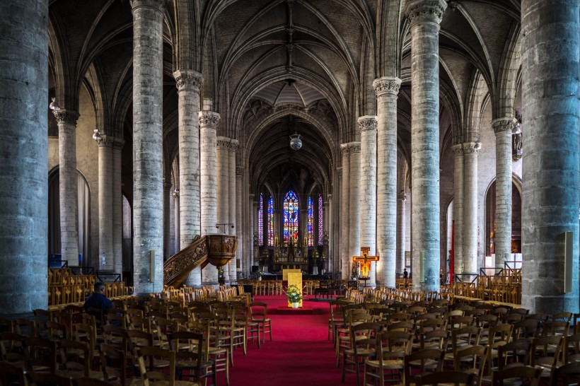 Lille, France - Saint-Maurice, the nave