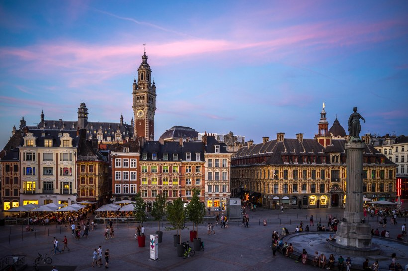 Lille, France - Sunset on Grand' Place