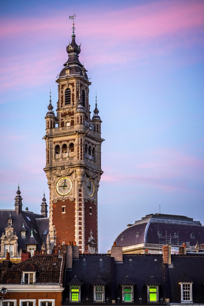 Lille, France - Sunset on the belfry