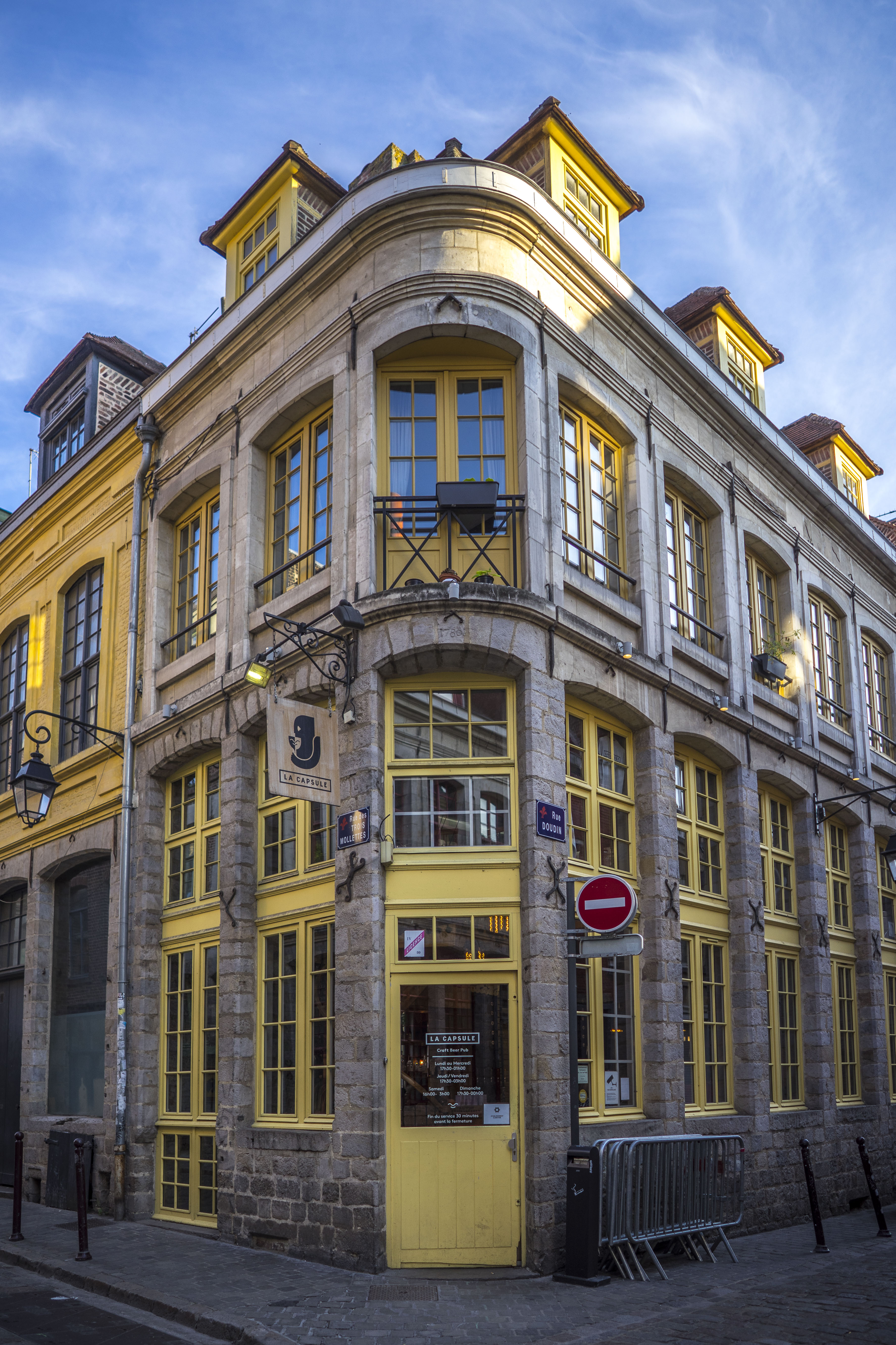 Lille, France - Yellow doors and windows