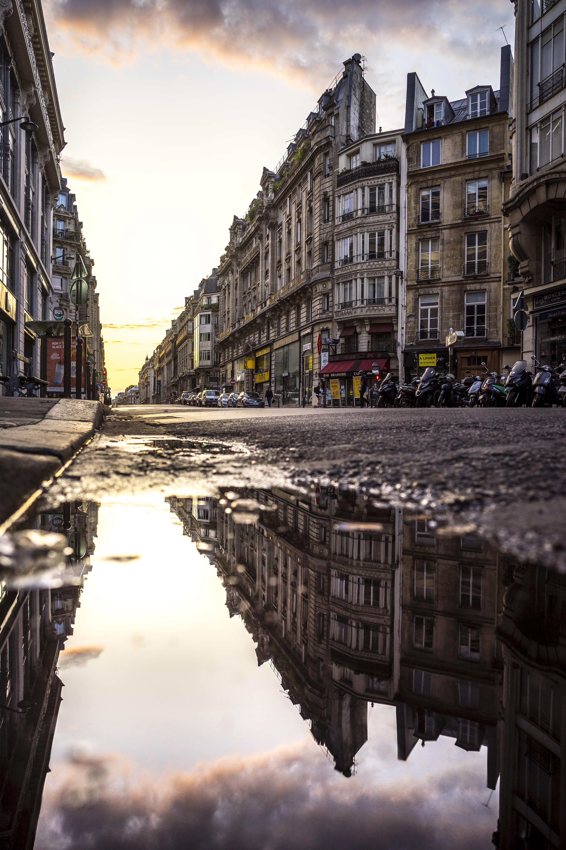 Paris, France - Rue de Réaumur at sunset, 2