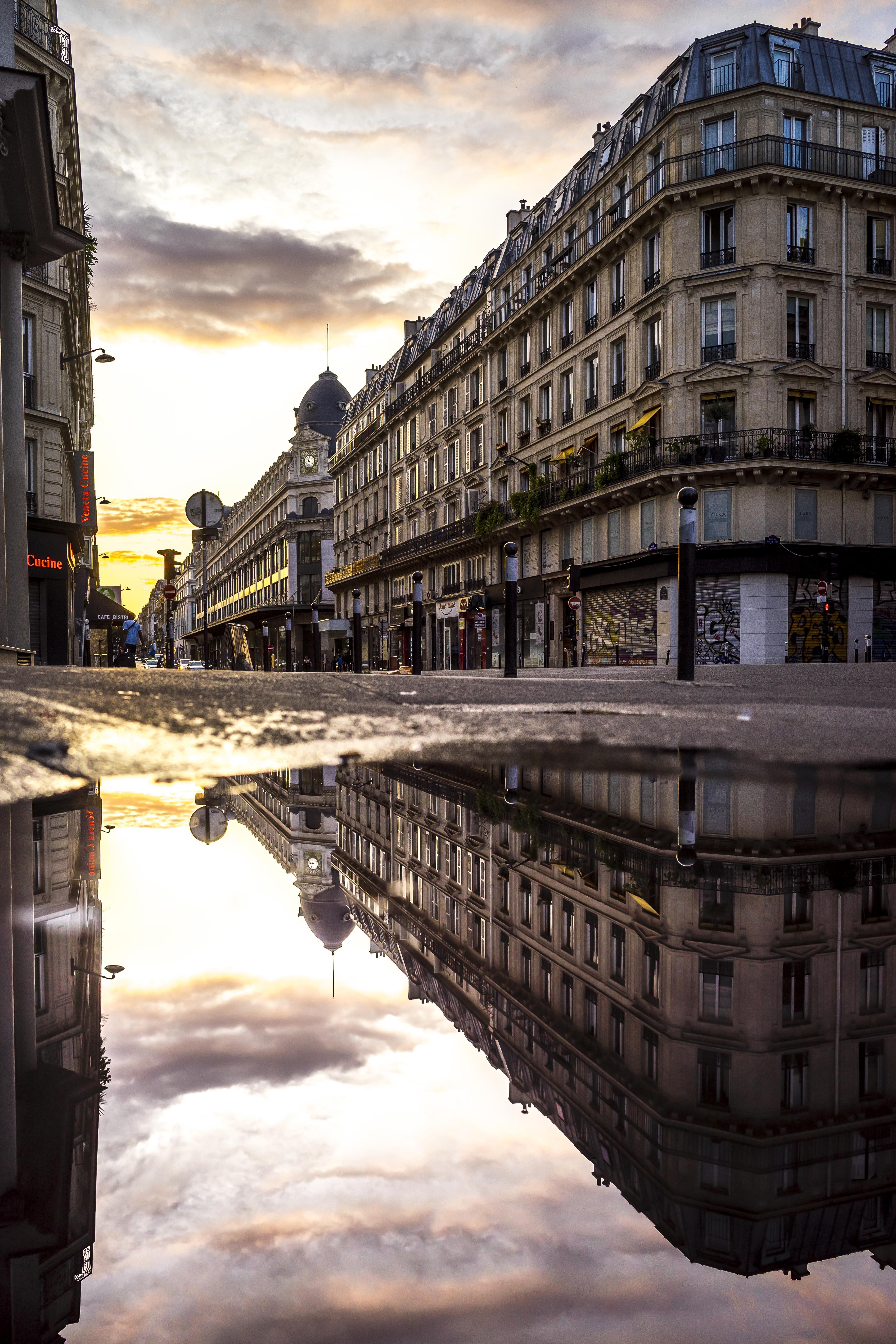 Paris, France - Rue de Réaumur at sunset, 3